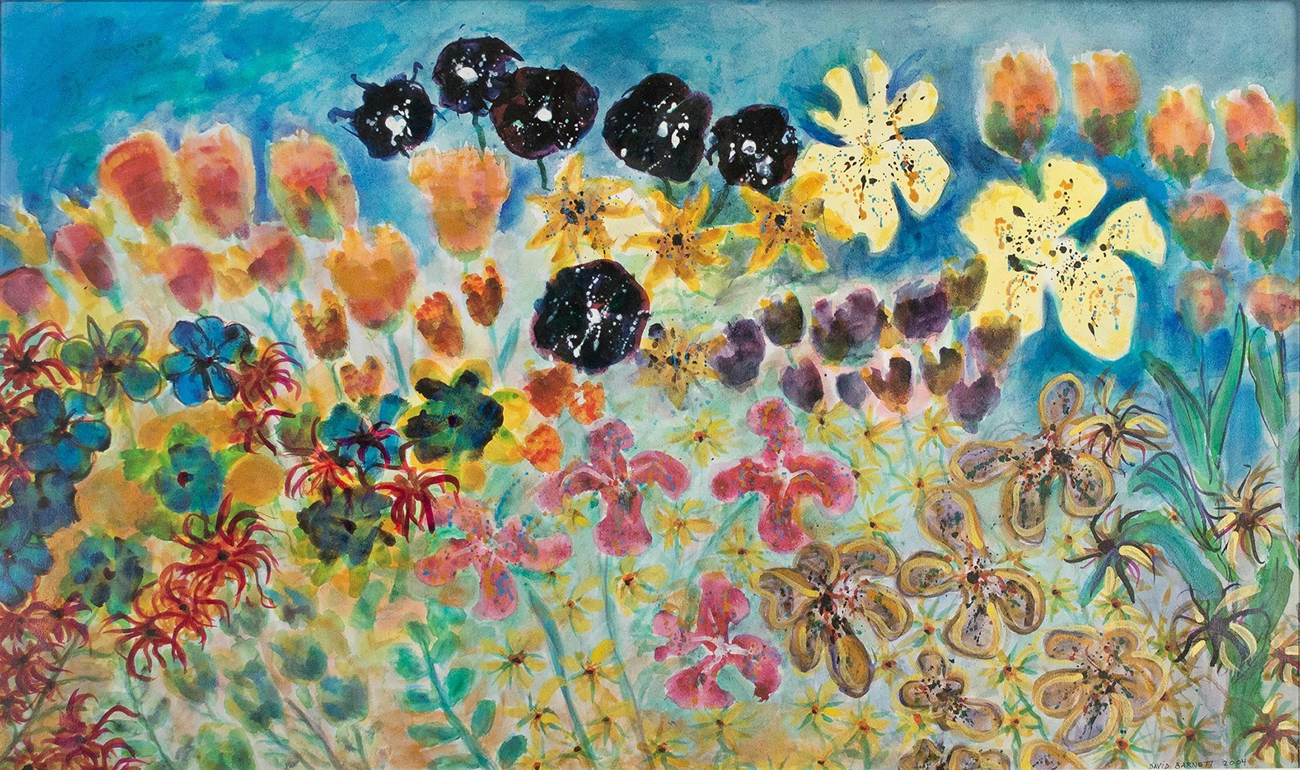 """Anticipating Spring,"" Original Mixed Media (Ink, Watercolor) by David Barnett"