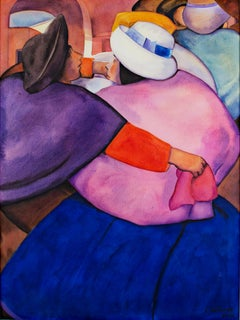 """The Dance,"" watercolor by Ernesto Gutierrez"
