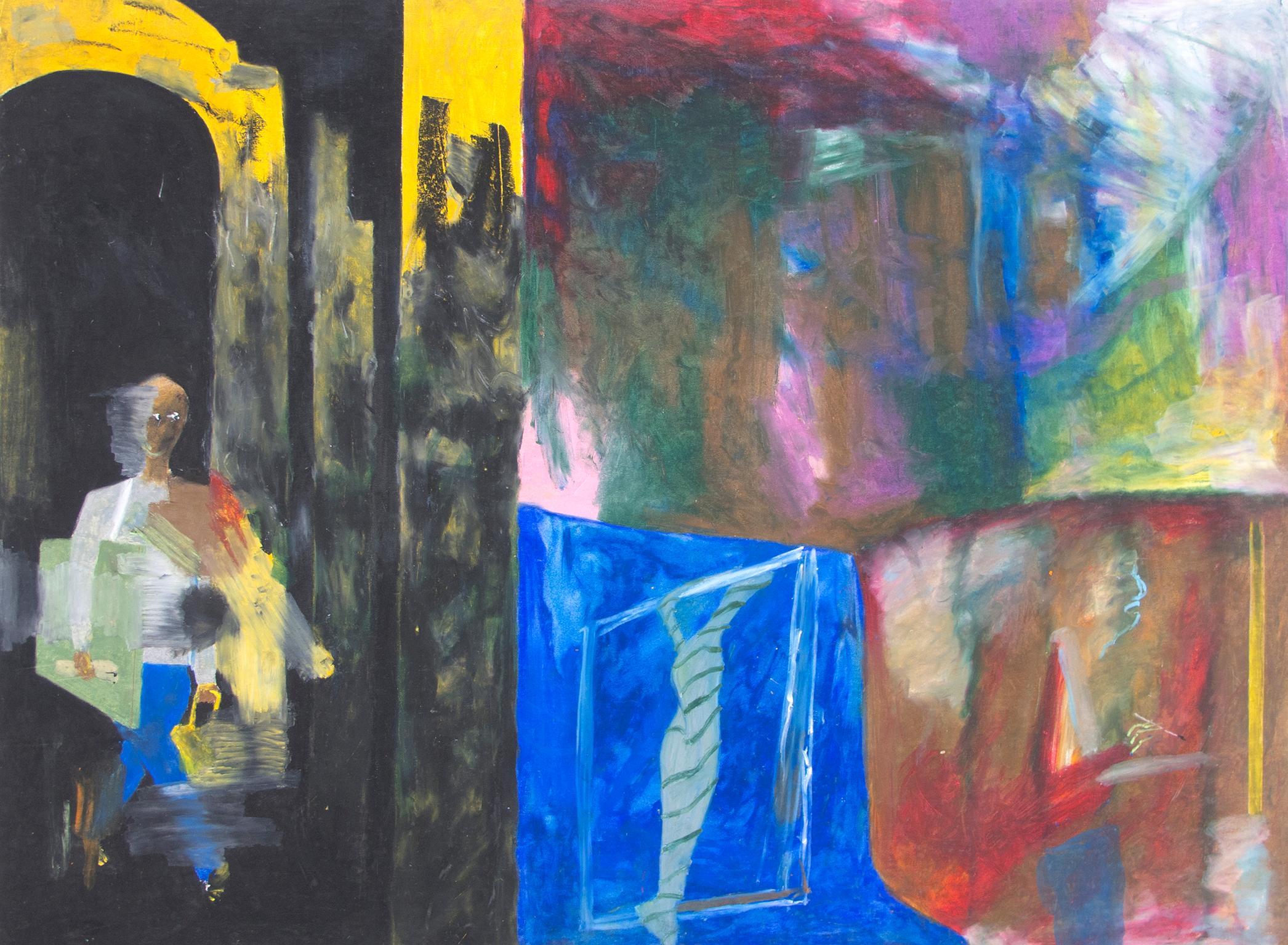 """""""Freelance,"""" Oil Pastel on Illustration Board signed by Reginald K. Gee"""