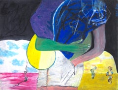 """California,"" oil pastel on illustration board by Reginald K. Gee"