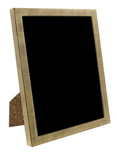 """Romanian Handmade Photo Frame,"" 22K Gold Leaf & Wood 8 x 10 in Frame"