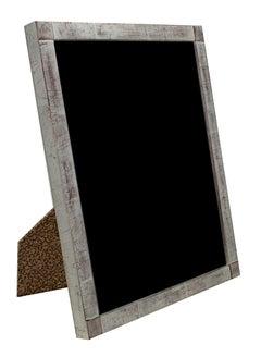 """Romanian Handmade Photo Frame,"" 12K White Gold Leaf & Wood 8 x 10 in Frame"