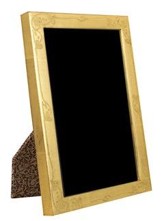 """Romania Handmade Photo Frame,"" 22K Gold Leaf Photo & Wood 5 x 7 Frame"