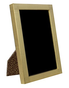 """Handmade 22K Gold Leaf Photo Frame,"" Wood 4 x 6 in created in Romania"