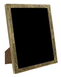 """Handmade 22K Gold Leaf Photo Frame,"" Wood 8 x 10 Frame made in Romania"