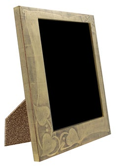 """Handmade 22K Gold Leaf Photo Frame,"" Wood 8 x 10 in created in Romania"