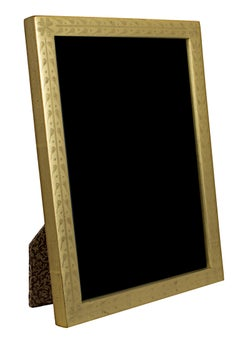 """Handmade 22K Gold Leaf Photo Frame,"" Wood 5 x 7 in created in Romania"
