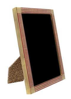 """Romanian Handmade Photo Frame,"" 22K Gold Leaf & Wood 5 x 7 in Frame"