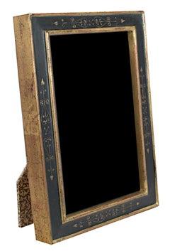 """Handmade 22K Gold Leaf Photo Frame,"" Wood 4 x 6 in created by Romania"