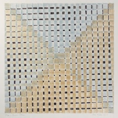 """""""Blue & Brown Pattern,"""" colored pencil & watercolor on paper by Tom Shelton"""