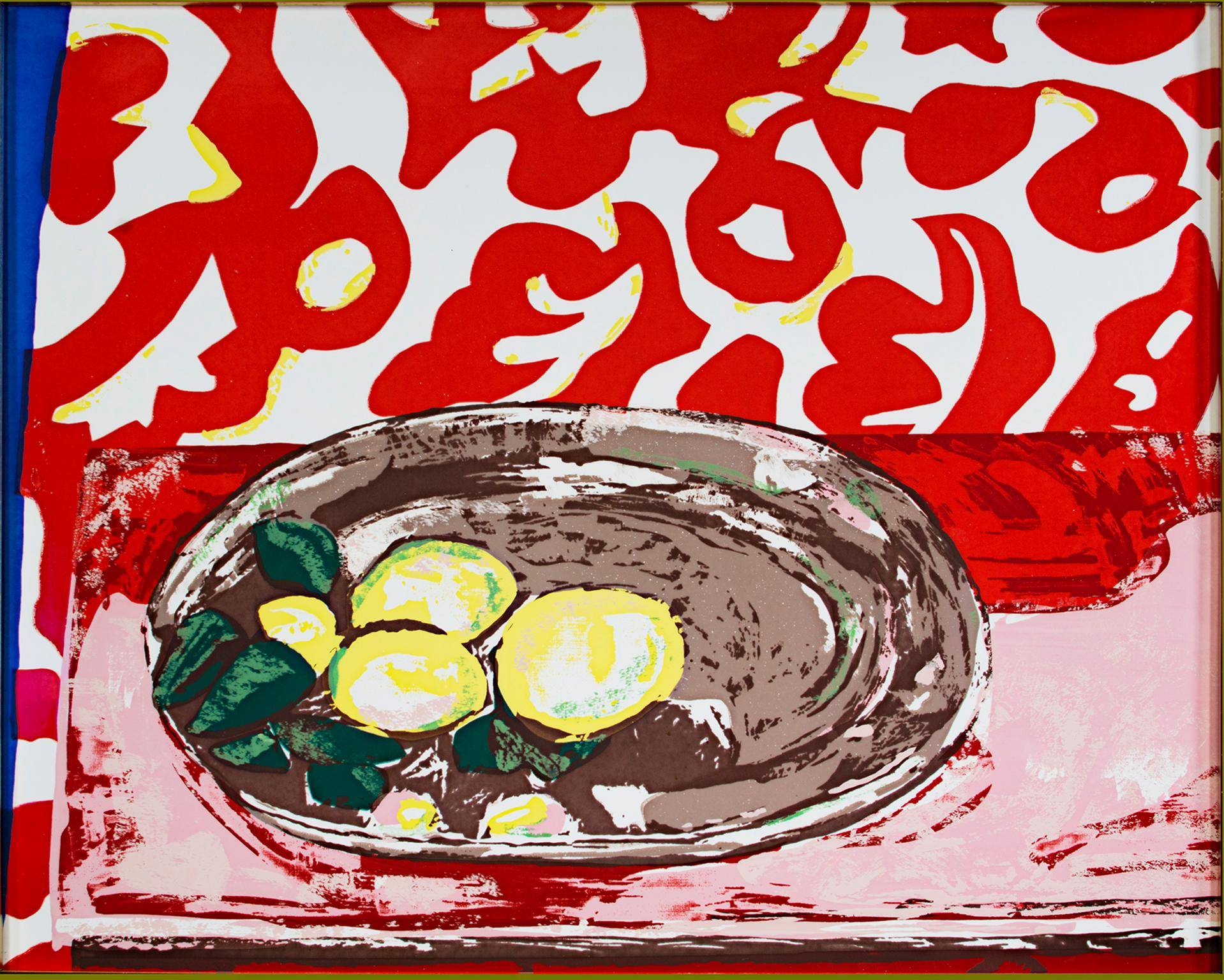 """Lemons on a Pewter Plate,"" Porcelained Enamel on Steel after Henri Matisse"