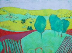"""Landscape Green,"" pastel drawing by Sue Bartfield"