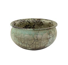 Raku Ceramic Bowl by Ken Kapp, earth-colored glaze