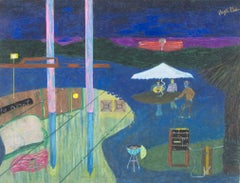 """Rebecca Island Getaway,"" Oil Pastel on Rag Board signed by Reginald K. Gee"