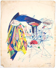"""""""Untitled,"""" abstract ink and color pencil on paper by Reginald K. Gee"""