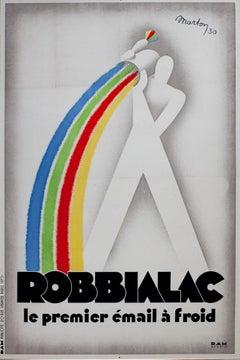"""Robbialac,"" Original Lithograph Poster by Lajos Marton"