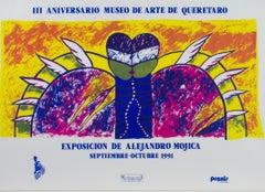 """""""Exposicion de Alejandro Mojica,"""" Original Lithograph Poster by Alejandro Mojica"""