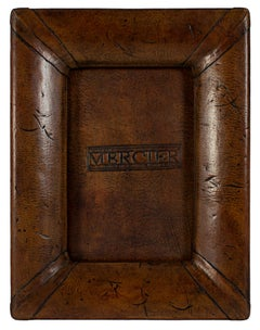 """Peruvian Frame,"" Leather & Wood 4"" x 6"" Photograph Frame"