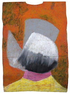 """Glower,"" pastel on grocery bag by Reginald K. Gee"