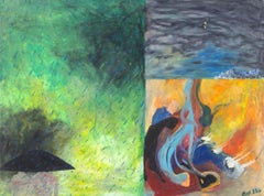 """Space Sense,"" Multi-scene Oil Pastel on Illustration Board by Reginald K. Gee"