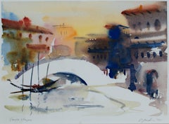 """Venice Shapes"" Watercolor on Kilaminjaro Watercolor Paper signed by Craig Lueck"
