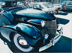 """Cadillac,"" photorealistic automobile watercolor by Bruce McCombs"