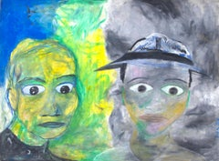 """The Mood,"" portrait oil pastel on illustration board by Reginald K. Gee"