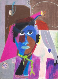 """The Sound of Color,"" Oil Pastel on Illustration Board signed by Reginald K. Gee"