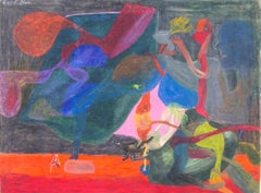 """""""Therapeutic Horse Knowledge,"""" Oil Pastel on Board signed by Reginald K. Gee"""