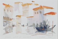 """Venice-Glint of Sunlight,"" Italian watercolor painting by Craig Lueck"
