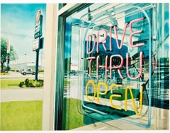 """""""Drive Thru Open,"""" photorealist watercolor by Bruce McCombs"""