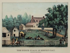 """Birthplace of Henry Clay, Hanover County, VA,"" Lithograph by Kelloggs & Thayer"
