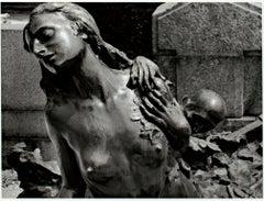 """Milano, Italia,"" Nude Statue Silver Gelatin Print signed by Philip Krejcarek"