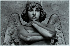 """Genova, Italia,"" angel statue photo, silver gelatin print by Philip Krejcarek"