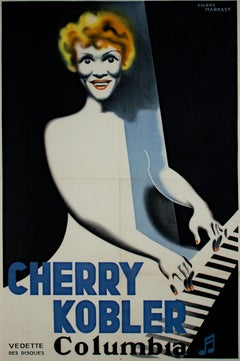 """""""Cherry Kobler,"""" Original French Color Lithograph Poster by Pierre Marrast"""