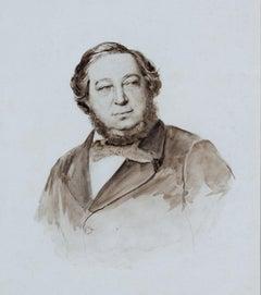 """Portrait of Baron Mayer de Rothschild, Rothschild Collection,"" -O. G. Rejlander"
