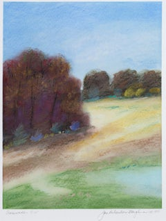 """Crossroads A-67,"" framed pastel landscape drawing by Janet Richardson-Baughman"