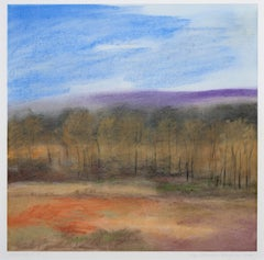 """Wolf Lake I-5,"" framed pastel landscape drawing by Jan Richardson-Baughman"