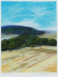 """Crossroads A-73,"" framed pastel landscape drawing by Jan Richardson-Baughman"