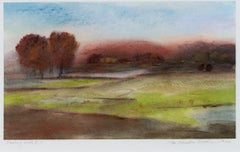 """Looking North II-8,"" framed pastel landscape drawing by Jan Richardson-Baughman"