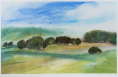 """Colmar CA-3,"" framed pastel landscape drawing by Jan Richardson-Boughman"