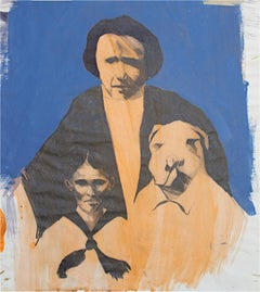 """Family Portrait,"" original gouache and pencil piece by Thomas Smith"