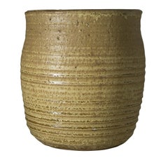 """""""Bowl (Olive Green),"""" Hand Thrown Ridged Stoneware signed by Mark Shekore"""