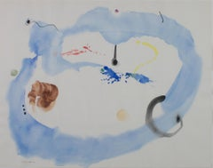 """Constellation with Blue Cloud,"" Original Watercolor signed by David Barnett"