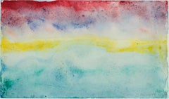 """""""Beaver Lake Sunset Nov. 11, 1996,"""" original framed watercolor by David Barnett"""