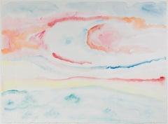 """""""Beaver Lake Spring Fever Sunrise,"""" original watercolor by David Barnett"""