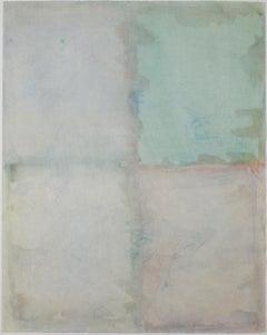 """Dream Window,"" Original Abstract Color-field Watercolor signed by David Barnett"