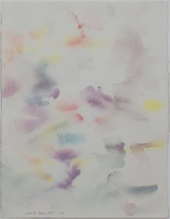 """Painted Sky,"" Original Abstract Watercolor signed by David Barnett"