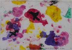 """Morph Dogs & Pink Chick,"" original watercolor painting by David Barnett"