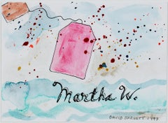 """Boston Tea Party Invitation for Martha Washington,"" watercolor by David Barnett"